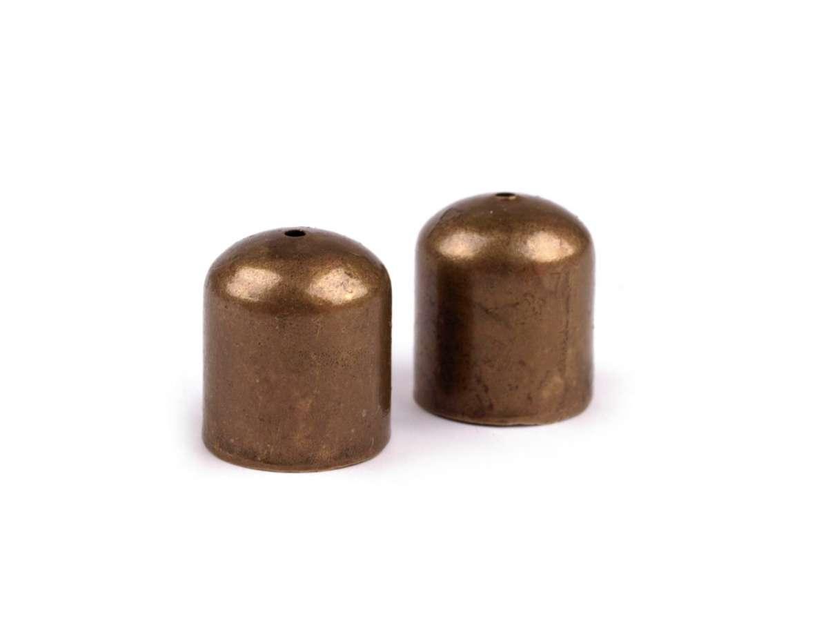 Kaplík 8x8mm - kov, ukončení na stužky, provázky, řetízky, velký, mohutný, výroba šperků