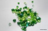 Zvětšit fotografii - Zelená srdíčka - směs 10ks
