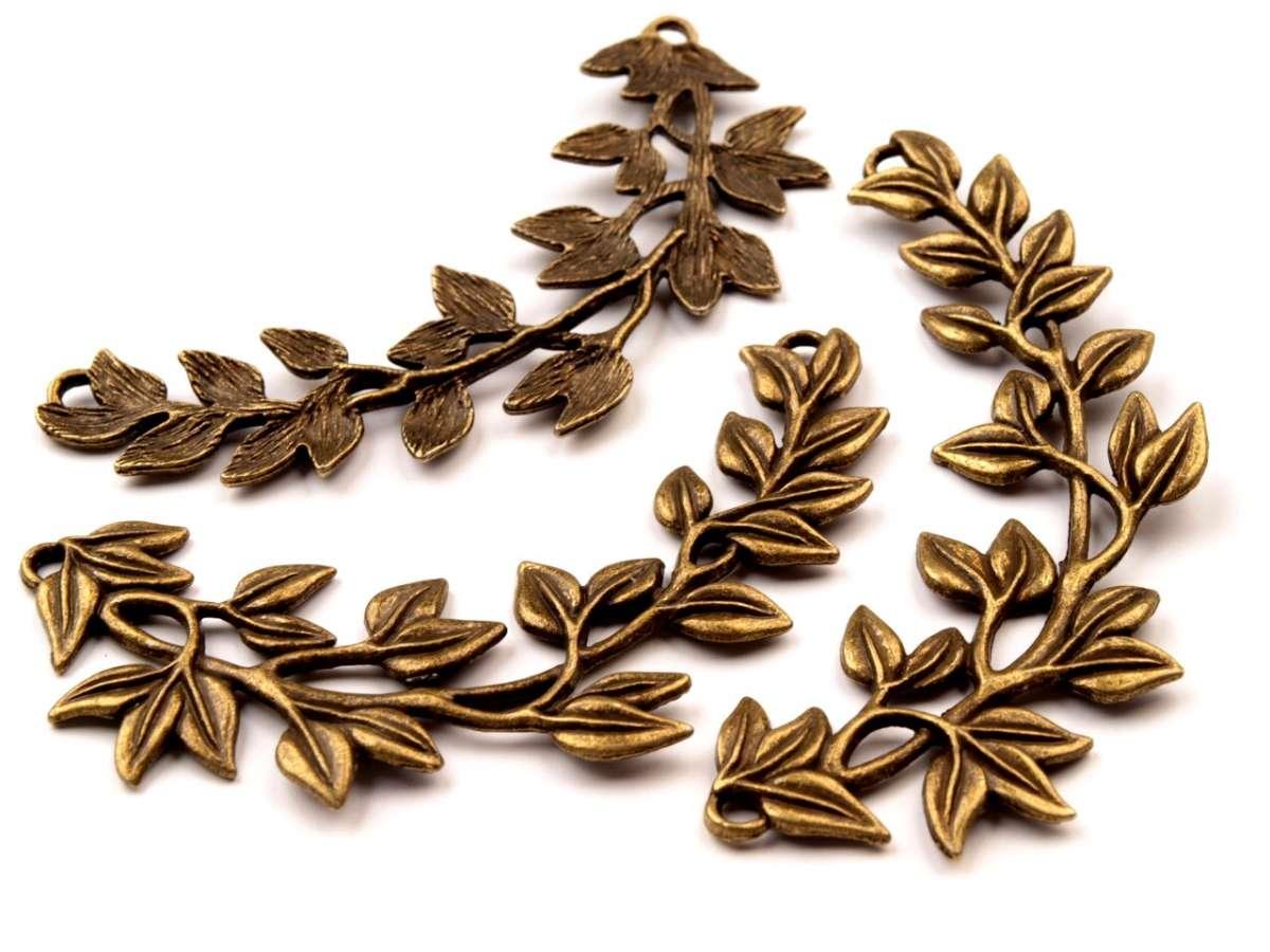 Dvouočkový přívěs o rozměru 30x85mm - bižuterní kov, , vhodný pro výrobu šperků, náhrdelníků, velký, masivní přívěsek se dvěma očky