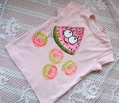 Dívčí růžové tričko s melounem kr.92