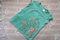 Nabírané tričko ručně dekorované s panenkou Santoro, šablonování, lepení - velikost 104