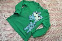 Modré tričko s malovaným tyrkysovým hrochem - velikost 92 dětská