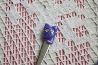 Kočička 1 . ručně modelovaná a malovaná mocca krátká lžička