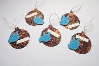 Modrý králíček na šiškách - jmenovky na dárky sada 5ks