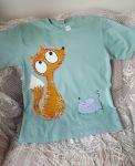 Mátové tričko s liškou a myškou XL
