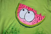 Ručně malované tričko se šťavnatým melounem velikost L