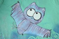 Modrofialový netopýr krátký rukáv velikost Xs - 1. varianta