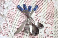 Příbory modrý s ornamenty 1.