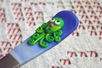 Octopus 2. - ručně modelovaná veselá dlouhá lžička s chobotnici