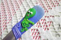 Octopus 5. - ručně modelovaná veselá lžička s chobotnicí