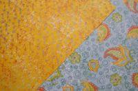 Romantický jemný tyrkysová-žlutá - fotokarton