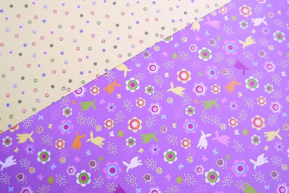 fotokarton velikonoční fialový - rub a líc