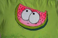 Veelý šťavnatý meloun ručně namalovaný na triku pro vás :-) velikost xL