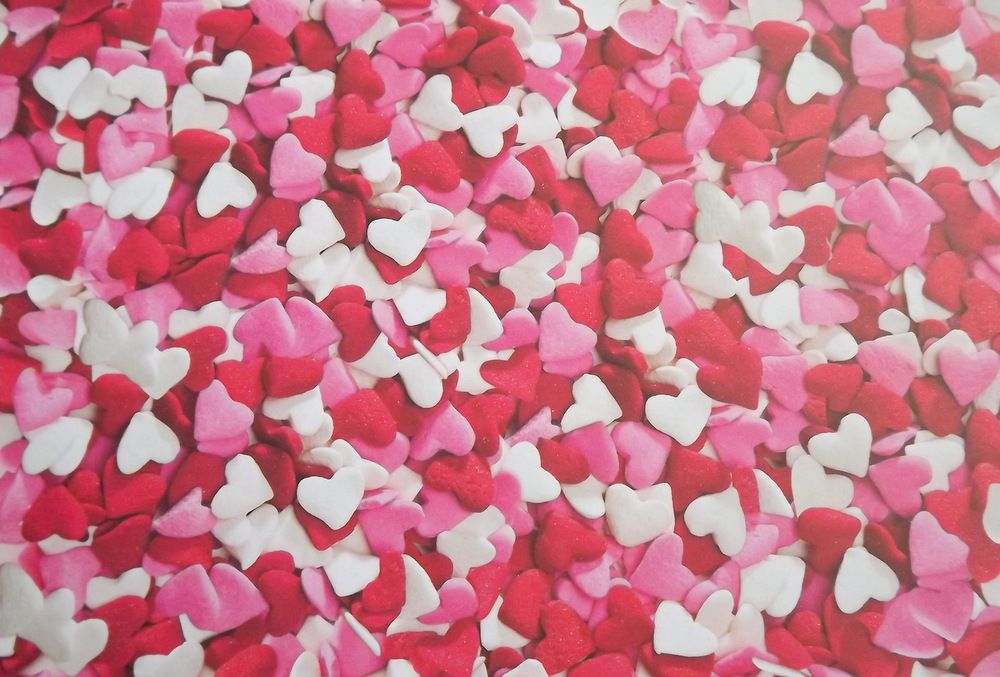 fotokarton růžová srdíčka