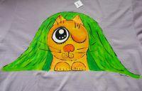 Kočka pod dekou - vtipné tričko pro milovníka koček velikost xxL, krátký rukáv