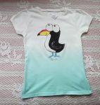 Dvoubarevné tričko s tukanem  kr. 122