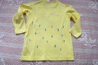 Zelený chameleon na žlutém dívčím tričku - velikost 98