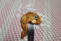 Zlatá rybka 2. - ručně modelovaná a oboustranně malovaná dlouhá lžička