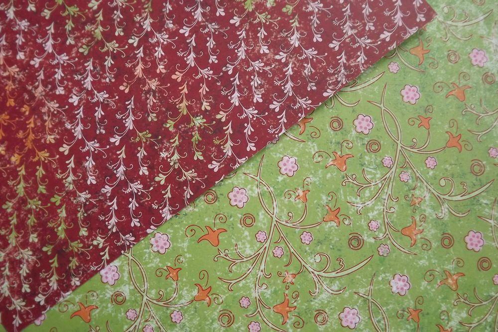 Romantický výrazný - zeleno - bordo A4