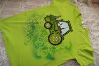 Traktor Ručně malované zelené tričko s krátkým rukávem, 100% bavlna