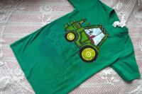 Se žlutými koly - zelený traktor na zeleném tričku - velikost 146