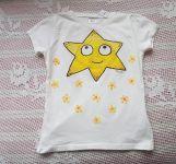 Smetanové tričko se sluníčkem  kr. 122