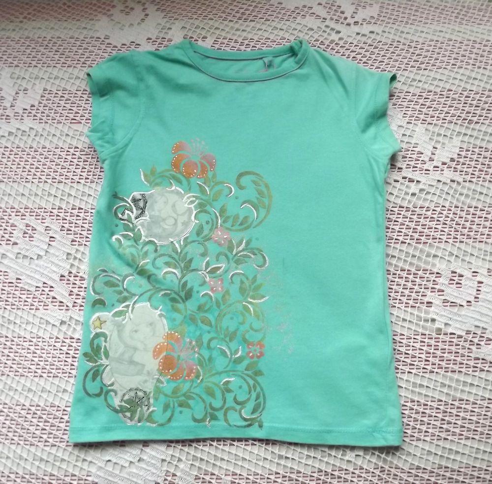 ručně dekorované bavlněné zelené tričko se santoro panenkami mořskou pannou a dívkou v loďce. velikost 110