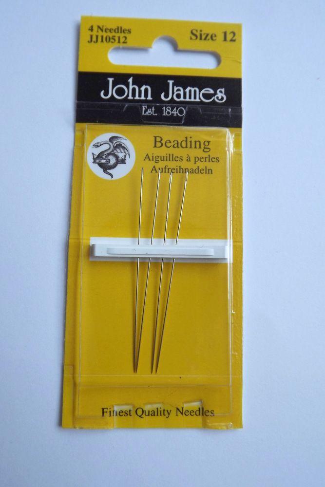 Jehly na korálky John James 12