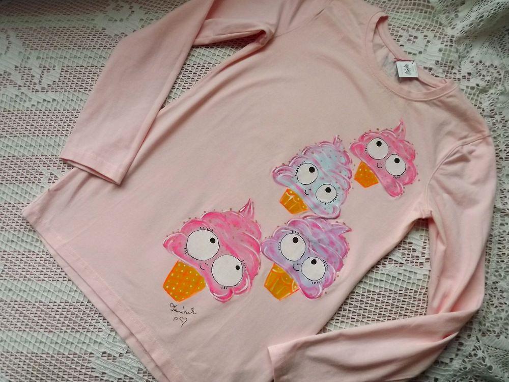 sladké růžové tričko se zmrzlinami velikost 134-140