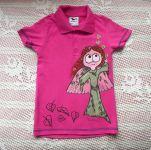 Růžové tričko s vílou kr. 110