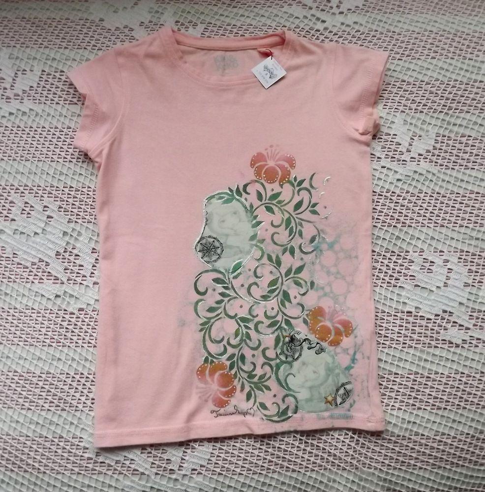 Růžové bavlněné tričko se santoro panekou, ručně dekorované velikost 116