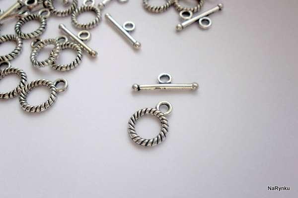 Provázek - americké zapínání - bižuterní kov, barva platina, tibetské stříbro, ozdobné, vhodné pro výrobu šperků