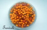 Oranžová směs v krabičce - skleněné korálky II. - srdíčka, rokajl, válečky, ručičky, ruce, kuličky, mramorované, průhledné, enprůhledné, matné, lesklé, listr
