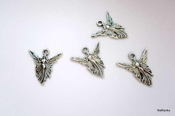 Elfí víla - přívěsek - kov, vhodný pro výrobu šperků, scrpbooking, cardmaking