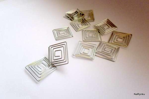 Spirálkový přívěsek - kov, pro výrobu šperků, dekorací, přání, scrapbook, cardmaking