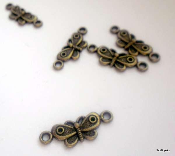 Mezikus - motýl - dva otvory - přívěsek, výroba šperků, dekorací, cardmaking, scrapbook