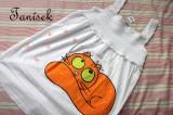 Zvětšit fotografii - Bílá pomerančová kočičí ležící tunika 140