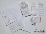 """Liščí děvčátko - Kreativní sada na vytvoření scrapbook přání - vhodné pro školy, školky, dílny, workshopy, na oslavy a párty - motiv Santoro Gorjuss Veronika """"Tanísek"""" Kocková"""