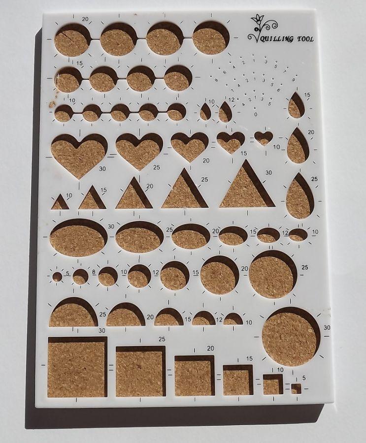 Pomůcka na quiling - různé tvary