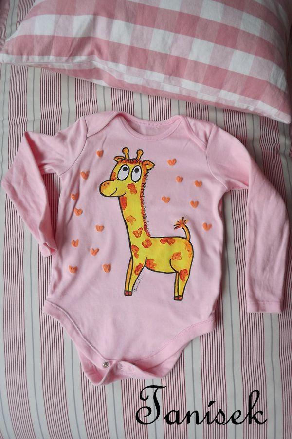 """Růžové body s žirafkou pro dívky Veronika """"Tanísek"""" Kocková"""