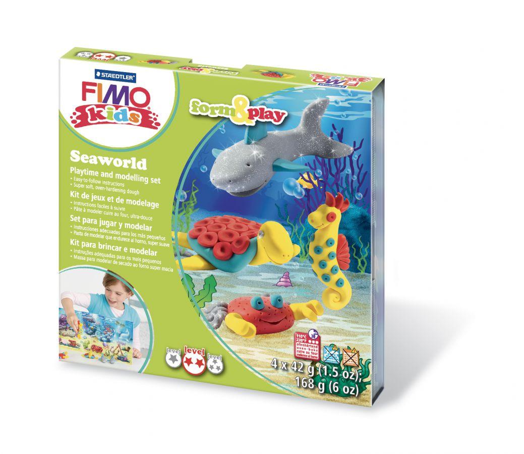 Kreativní sada netoxické modelovací hmoty FIMO kids -Sada Fimo kids Form & Play Mořský svět STAEDTLER FIMO