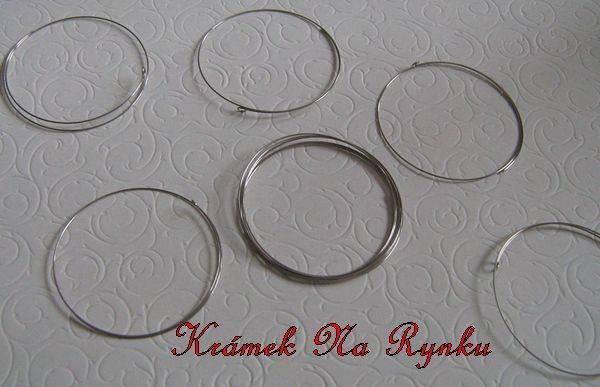Paměťový drát - drátek pro výrobu šperků - průměr 6cm - 5 otoček - výroba nármaků - navlékání