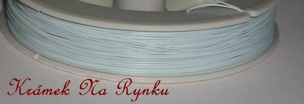 Nylonové lanko k výrobě šperků - návlekový materiál - světle modré - pastelové - pastel
