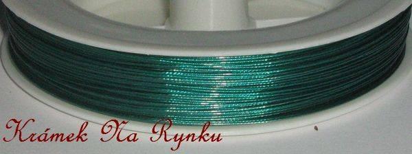Nylonové lanko k výrobě šperků - návlekový materiál - jasně zelené
