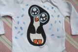 """Bílé body s roztomilým modrookým tučňákem Veronika """"Tanísek"""" Kocková"""