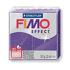 FIMO efekt fialová se třpytkami 57g STAEDTLER FIMO