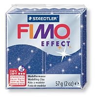 FIMO efekt modrá se třpytkami 57g STAEDTLER FIMO