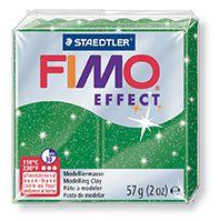FIMO efekt zelená se třpytkami 57g STAEDTLER FIMO