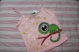 Zeleno růžový chameleon