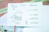 """Kocourek námořník - Sada pro výrobu scrapbook přání - tisk, 3D polštářky, flitry, obálka, přání """"Námořník"""", kocour, kotě, kočka, kočička, dárek Veronika """"Tanísek"""" Kocková"""